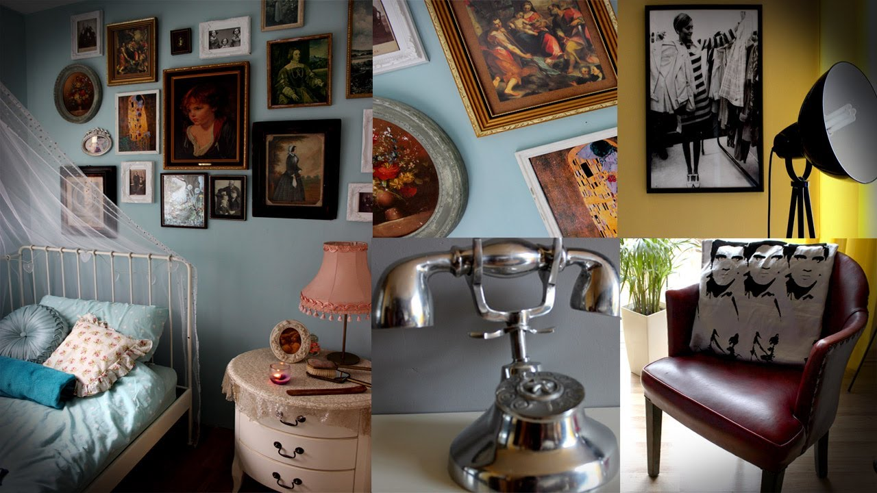 Pop Art Living Room & Shabby Chic Bedroom Tour - YouTube