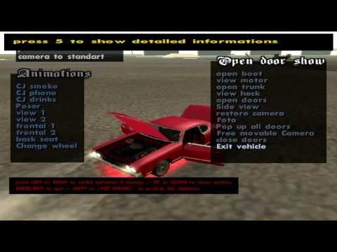 Hack GTA SAN ANDREAS PC MOD MENU TUNING