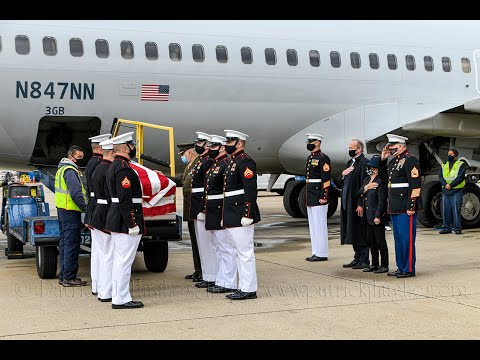 Medal Of Honor Final Salute Arrival For Vietnam Marine PFC Bruce Wayne Carter 10/30/2020