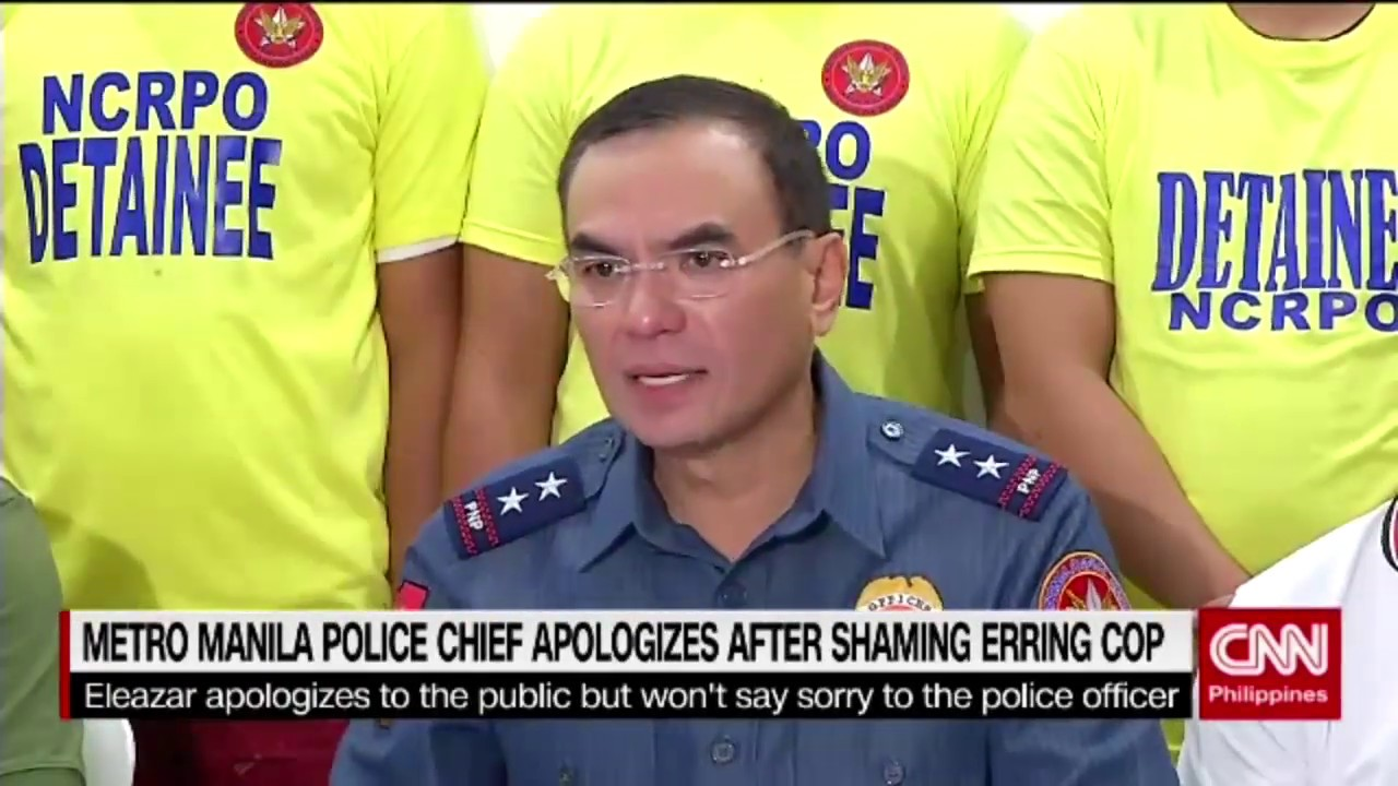 Metro Manila Police Chief apologizes after shaming erring cop