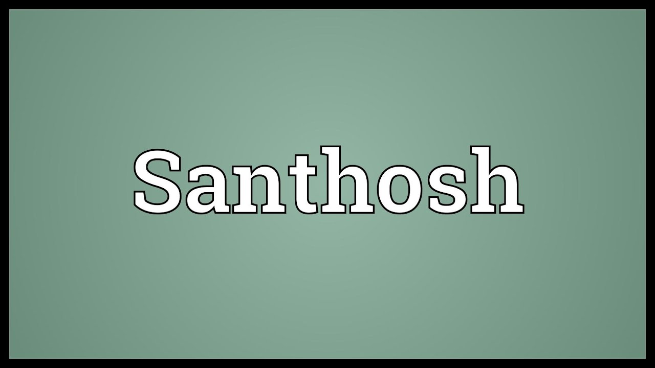 Santhosh meaning youtube for What is the significance of pi s unusual name