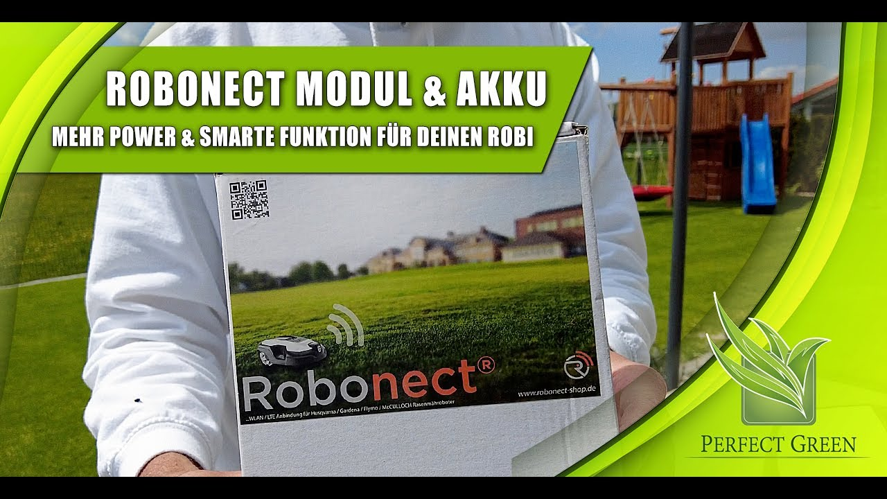 Robonect Modul   Größerer Akku   Smarte Funktionen   Husqvarna   Gardena   Mähroboter   Automower