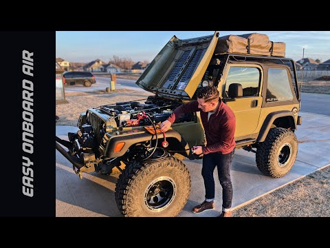 $143 DIY Overland Onboard Air Install – Jeep TJ