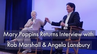 Mary Poppins Returns Interview With Rob Marshall & Angela Lansbury At The Walt Disney Studios