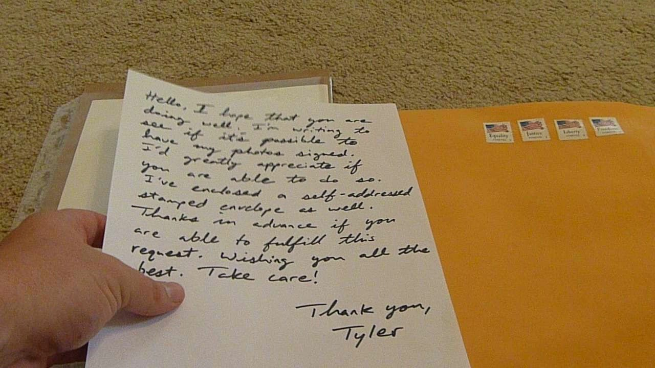 how to send autograph requests through the mail to celebrities youtube