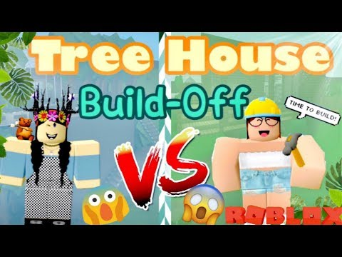 ROBLOX Treehouse BUILD BATTLE Panda V.S. Sofia l BLOXBURG