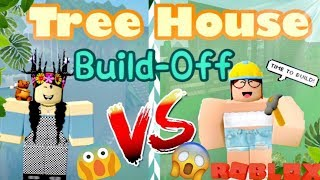 ROBLOX Treehouse BUILD BATTLE Panda V.S. Sofia l BLOXBURG