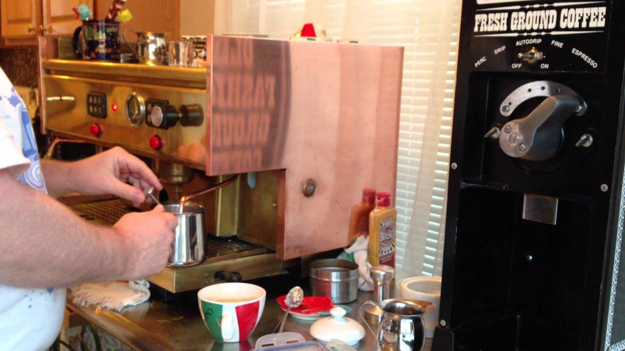My Brass And Copper Fama Astor Electronic Astoria 2 Group Semi Auto Espresso Machine