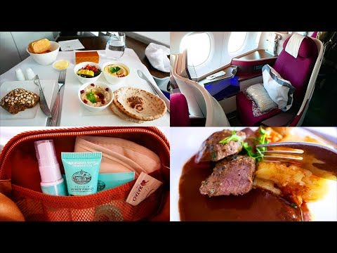 QATAR AIRWAYS Business Class Flight LONDON to SEOUL via DOHA
