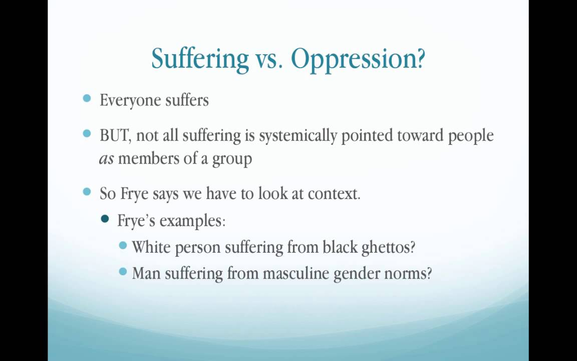 power and oppression essay Syllabus power, oppression, and justice (2015)  conceptions of social power and oppression and their theoretical context • to acquire the ability to evaluate.