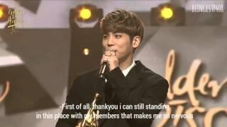 [ENGSUB] 160121 - Jonghyun Winning Speech 'Bonsang Awards' @ Golden Disc Awards