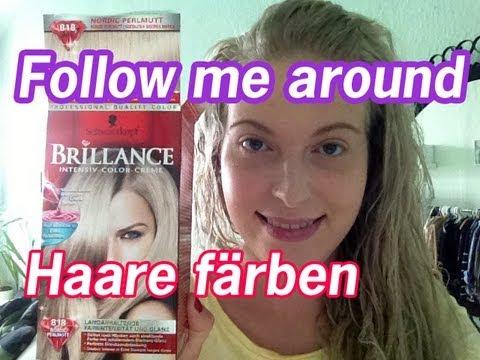 haare blon ren blond färben gelbstich entfernen youtube