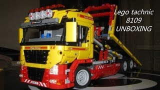 Lego technic 8109( tow truck) unboxing