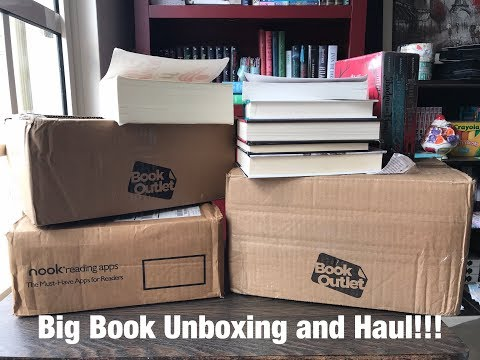 HUGE Book Outlet, Barnes and Noble Unboxing and Haul