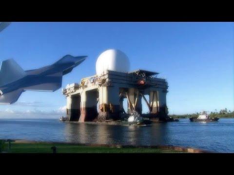 Gigantic Floating Military Radar SBX-1 Entering Pearl Harbor