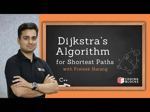 Dijkstra's Single Soure Shortest Path Algorithm with Code[C++] | Prateek Narang | Coding Blocks