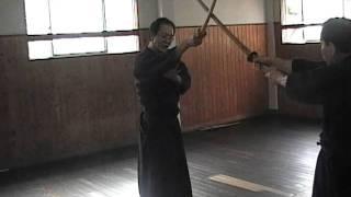 日本剣道形 小太刀3本目