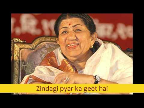 Zindagi Pyaar Ka Geet Hai - Lata Mangeshkar best early 80's songs