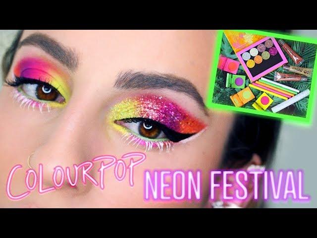 Colourpop Neon Festival Collection: Demo & Swatches!