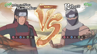 Guerra Ninja - Hashirama VS Kakuzu - NARUTO STORM 4