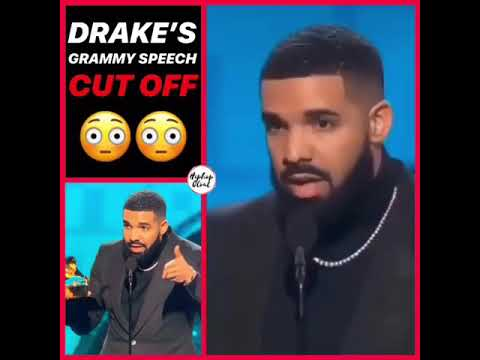 Drake Grammy speech was cut off