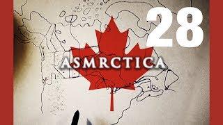 ASMR Drawing map of Canada - Soft spoken Sleep Aid
