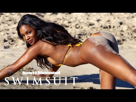 Jasmyn Wilkins Gets A Little Dirty On The Beaches Of Nevis   Intimates   Sports Illustrated Swimsuit