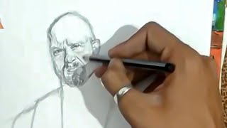 STEP by STEP Pencil Sketch Of WWE Superstar Stone Cold Steve Austin | HOW TO DRAW