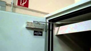 Fire resistant asecos drum cabinet - Automatic door closing