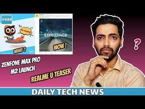 Zenfone Max Pro M2 Launch,Realme U Teaser,Space X Cheap WiFi