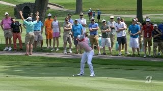 Rickie Fowler's approach sets up eagle on par-5 at Bridgestone