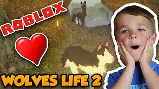 I AM A WOLF in ROBLOX WOLVES LIFE 2 | MAKING A WOLFPACK WITH WITH DAD AND FANS