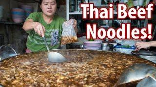GIANT Thai Beef Noodles & Braised Goat at Wattana Panich (วัฒนาพานิช-ก๋วยเตี๋ยวเนื้อ)