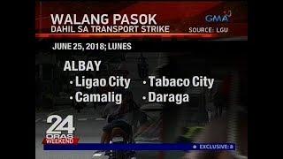 24 Oras: Ilang bayan sa Albay, walang pasok sa Lunes, June 25, 2018