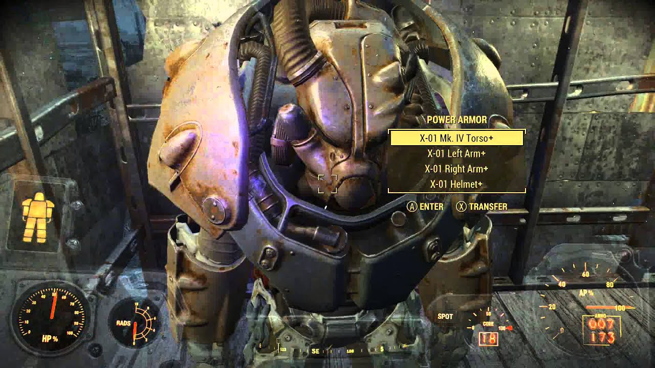 how to get out of the power armor