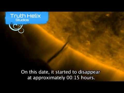 Alien UFO Space Station Captured Near Sun (2012)