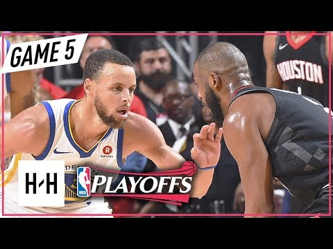 Stephen Curry vs Chris Paul DUEL Full Game 5 Highlights Warriors vs Rockets 2018 NBA Playoffs WCF