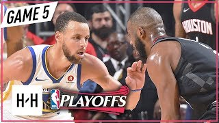 Stephen Curry vs Chris Paul DUEL Full Game 5 Highlights Warriors vs Rockets 2018 NBA Playoffs WCF