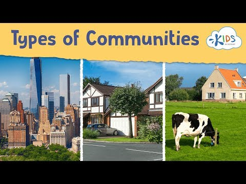 Your Community | Types of Community Social Studies for Kids | Kids Academy