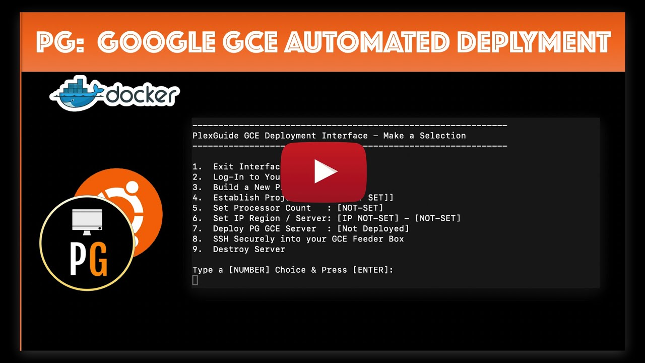 PlexGuide: Google GCE Automated Deployment
