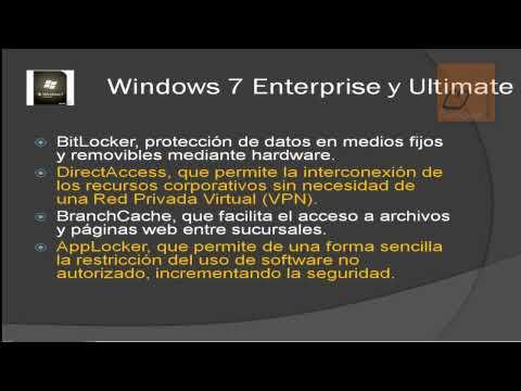 Versiones De Windows 7 (Diferencias)