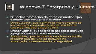 Versiones de Windows 7 (Diferencias)