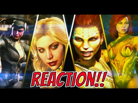 Injustice 2 Poison Ivy, Catwoman and Cheetah Reveal Trailer Reaction (Here Come The Girls)