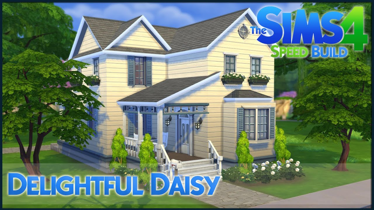 The Sims 4 Speed Build Delightful Daisy Youtube