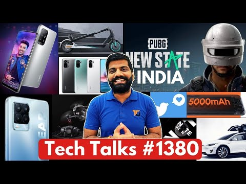 Tech Talks #1380 - PUBG: New State India Launch, Redmi Note 10 Price, A32, Tesla in India, Realme108