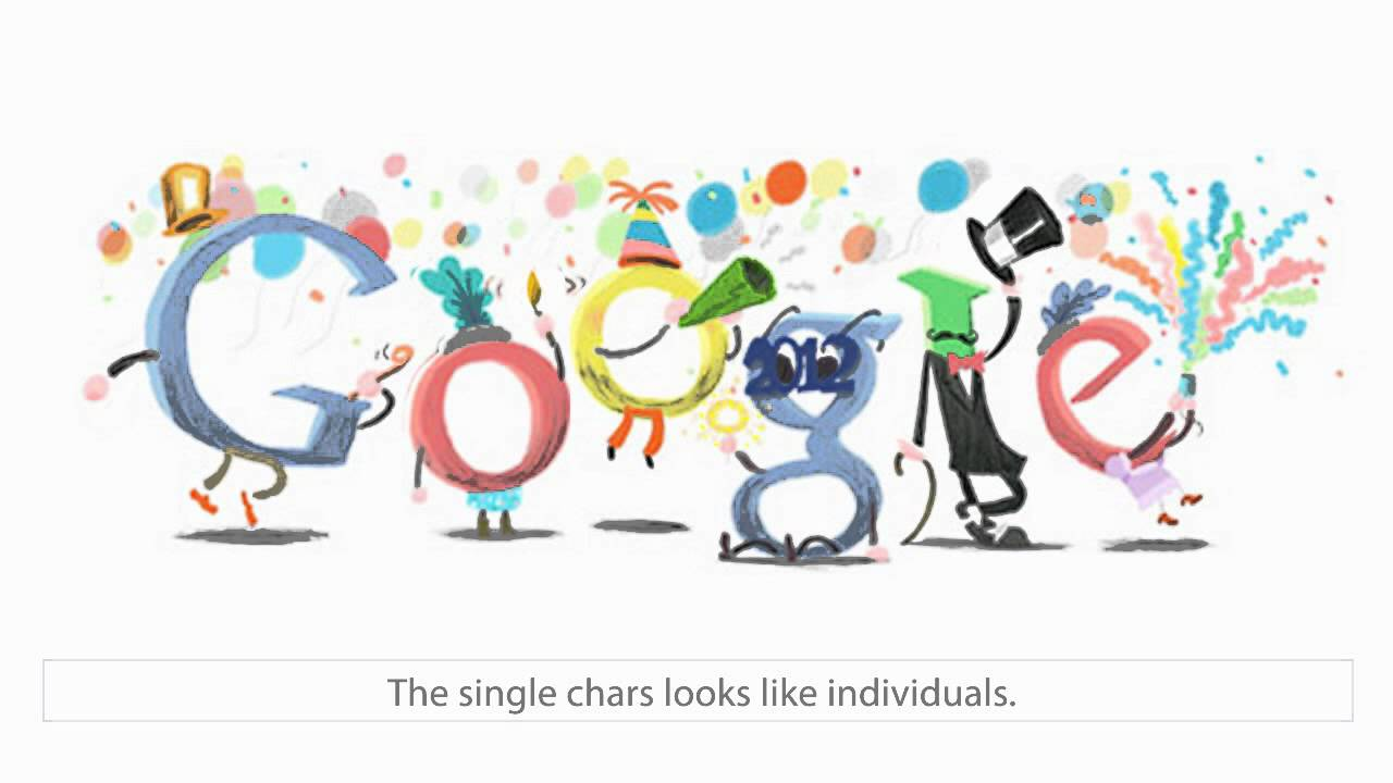 happy new year 2012 google doodle youtube