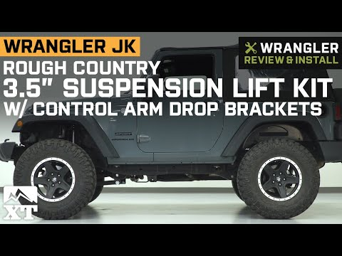 jeep-wrangler-2-door-jk-rough-country-3.5-in-lift-kit-w/-control-arm-drop-brackets-review-&-install