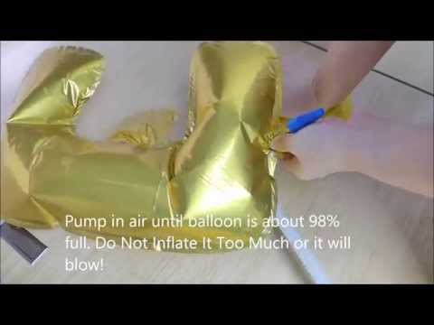 Inflating a foil balloon