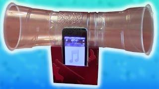 Лайфхак. Как сделать колонки для телефона (на примере iPhone)(Мой второй канал: http://www.youtube.com/ZdorovTV - Как стать партнером YouTube и много зарабатывать. Мой опыт: http://youtu.be/jV0bSpinCwI..., 2013-04-01T06:04:30.000Z)