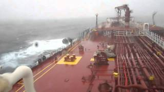 OIL TANKER ROLLING IN ARABIAN SEA